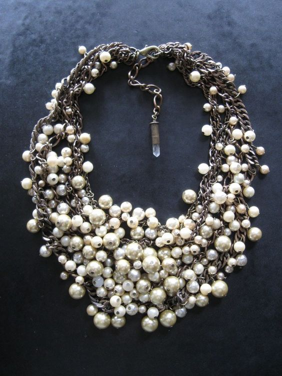 This might be a little intense for my features, but I love the scattered feeling mixed with the refinement of pearls.