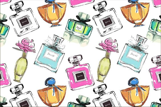 Vector seamless perfumes pattern by Interints on Creative Market