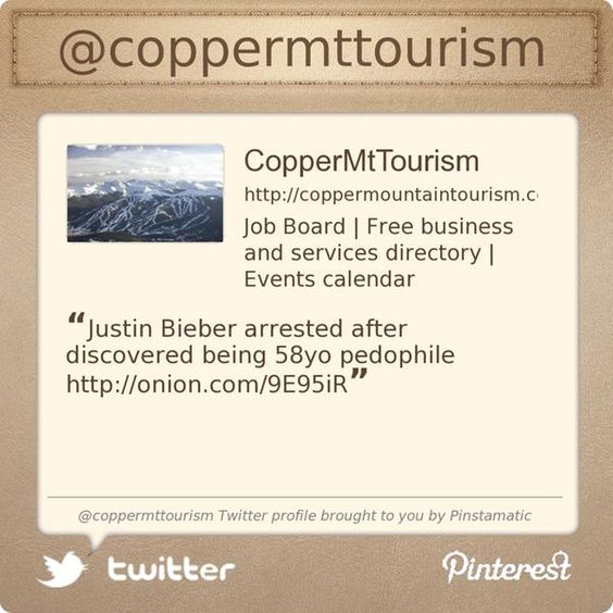 Copper Mt Tourism is on Twitter @coppermttourism's Twitter profile courtesy of @Pinstamatic (http://pinstamatic.com)