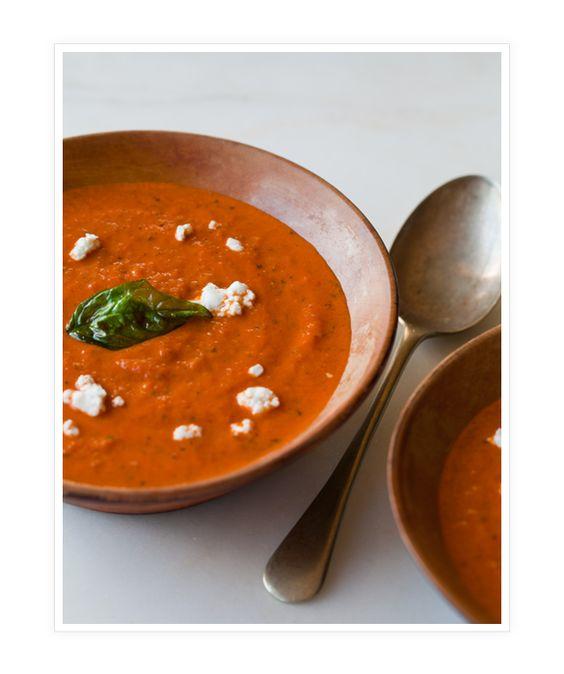 Creamy Roasted Tomato-Basil Soup recipe via @Allyson Capparella Fork ...
