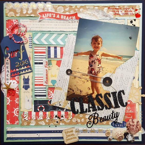 Classic+Beauty - Carta Bella Paper - Ahoy There Collection: