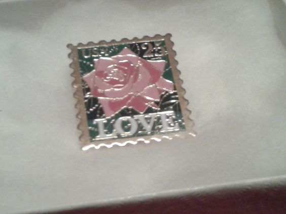 1 day left !LOOK: USPS Love 25 cent Rose Stamp Pin for Valentine's Day