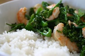 Spicy Wok Shrimp with Coconut Rice | Coconut Rice, Spicy and Shrimp