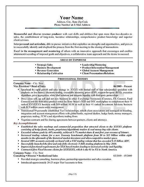 Executive Sales Resume Example Resume Summary Examples Good Resume Examples Resume Summary