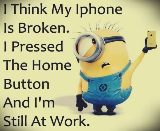 10 Best Quotes Humor Images On Pinterest: Minion Jokes And Quotes.: Minions Iphone Broken Funny