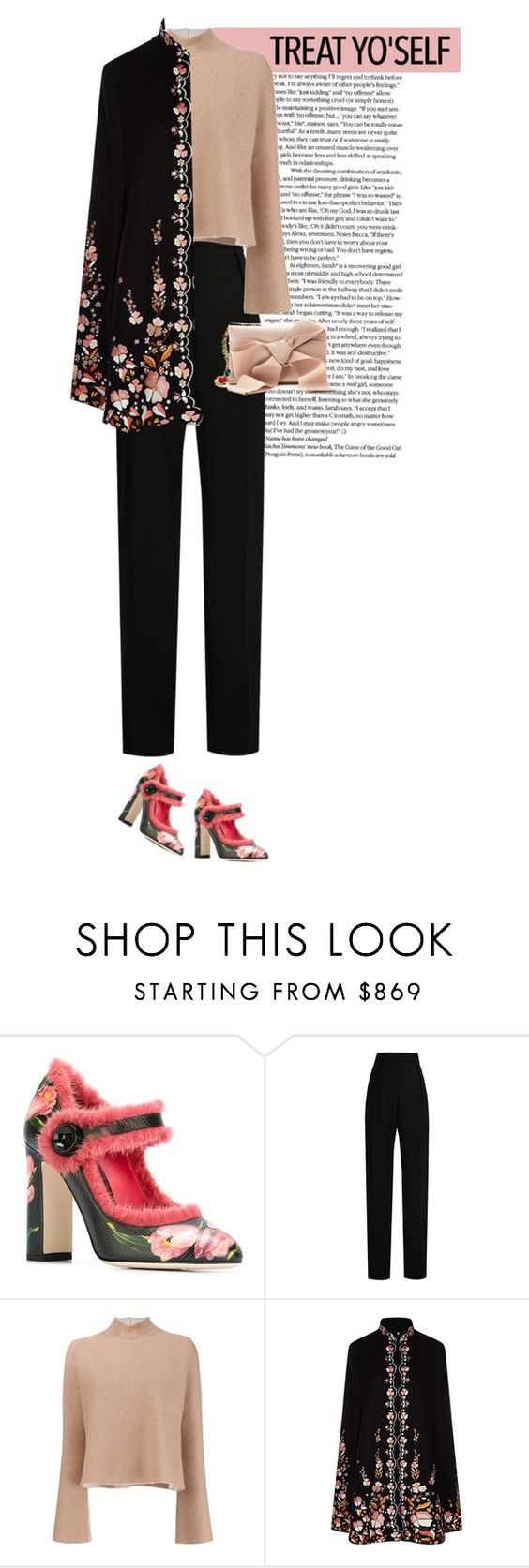 """""""Untitled #269"""" by arees ❤ liked on Polyvore featuring Dolce&Gabbana, Lanvin, Proenza Schouler, Vilshenko and Oscar de la Renta"""