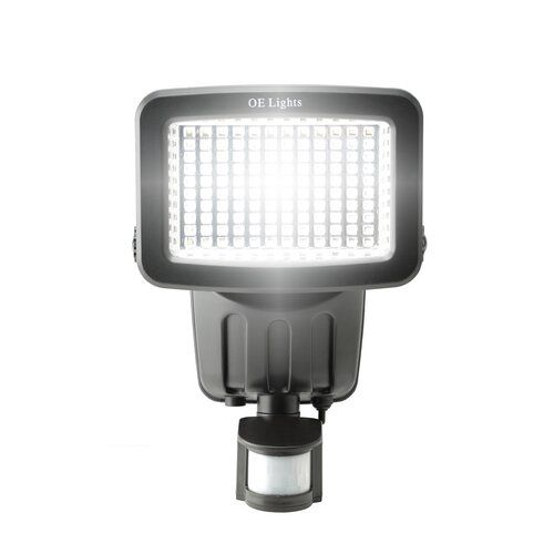 120 Smd Led Solar Security Light In Black Oe Lights Finish Black Solar Security Light Security Lights Solar Powered Security Light