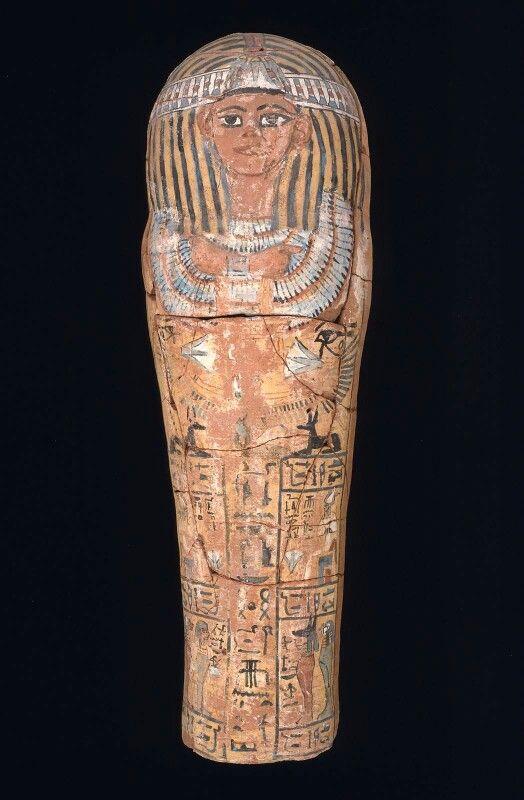 Child's coffin. Pottery. New Kingdom. 19th dynasty. 1295–1186 B.C.   Museum of Fine Arts, Boston