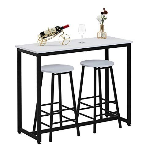 Breakfast Bar Table With 2 Stools