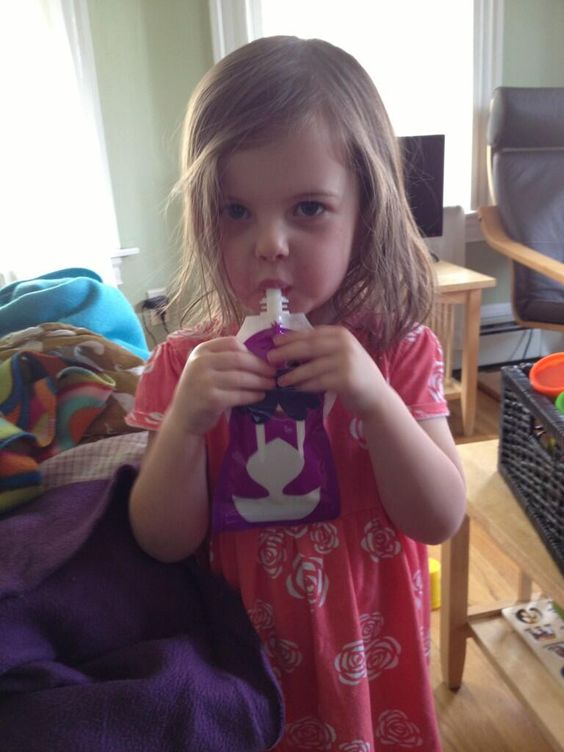 lifewithRoozle: Roozle is trying out her new @squooshi reusable food pouch   www.squooshi.com