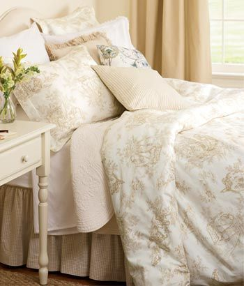 Lenoxdale Toile Duvet Cover and Pillow Shams in Sand from Country ...