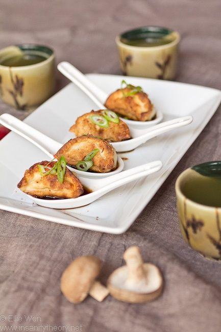 Chicken, Shiitake  Portabello Mushroom Dumplings