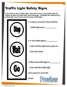 Worksheet Pedestrian Safety Worksheets traffic light safety and lights on pinterest pedestrian lights