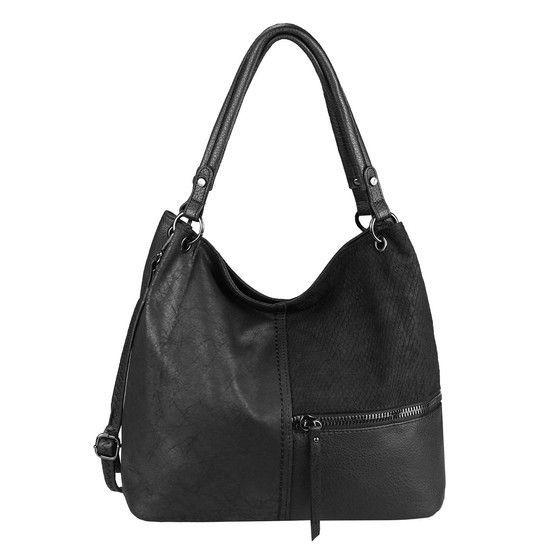 DAMEN TASCHE Shopper Tote Bag Handtasche Schultertasche Leder Optik Beuteltasche