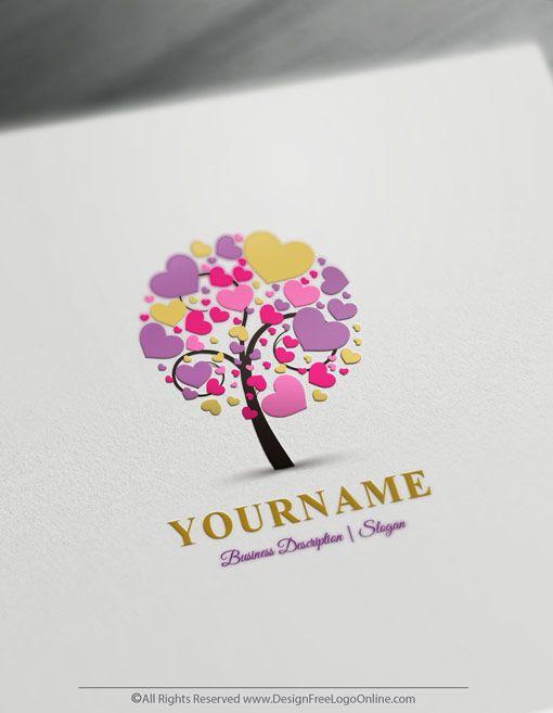 Design Free Fashion Logos And Beauty Logo Designs Tree Logo Design Logo Maker Tree Logos