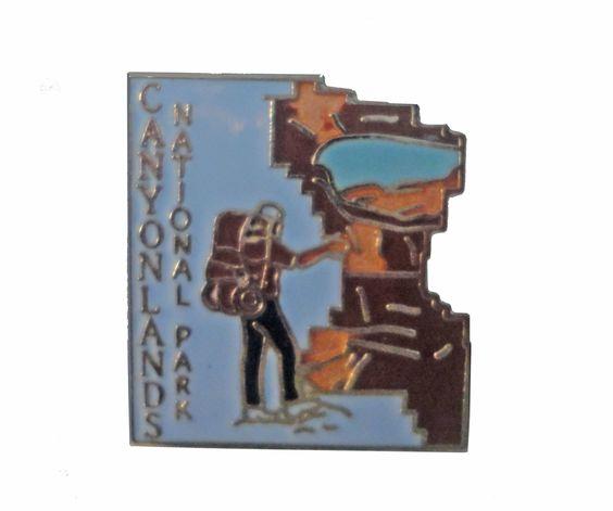 Canyonlands National Park UTAH State vintage lapel cloisonne enamel pin
