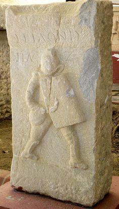 Funerary relief for a gladiator named Seilonis. Museum of Ephesus, Turkey.