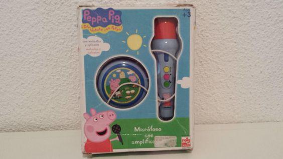 Micrófono Peppa Pig (3 a 5 años): Micrófono Peppa Pig con amplificador.  Causa beneficiada: Becas educativas del Casal, Barcelona