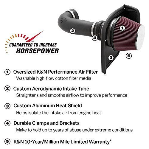 K N 63 1566 Aircharger Performance Air Intake System Performance Air Filters Jeep Wrangler Jk Wrangler Jk