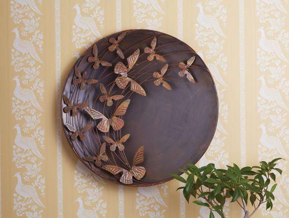 Metal Butterfly Wall Art - Large Outdoor Metal Wall Art - 3D: