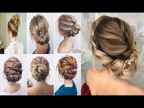 Braided Updo Hairstyles For Medium Long Hair Tutorial Wedding Prom New Year Eve Party Hairstyles Yout Long Hair Updo Braided Hairstyles Updo Hair Tutorial