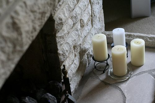Lareira e velas