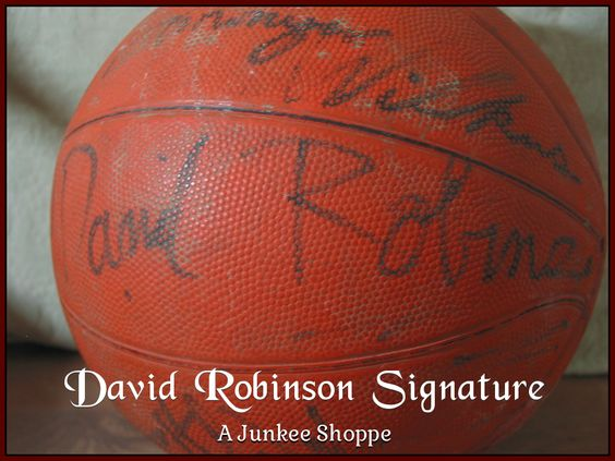 AUTOGRAPHED Basketball Star Signed Through The Decades Not Authenticated David Robinson 953  http://ajunkeeshoppe.blogspot.com/