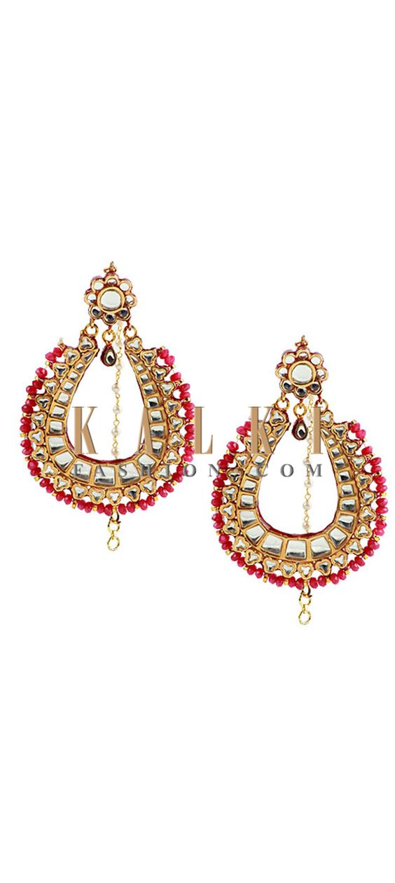 Buy Online from the link below http://www.kalkifashion.com/antique-ruby-chandbalis.html