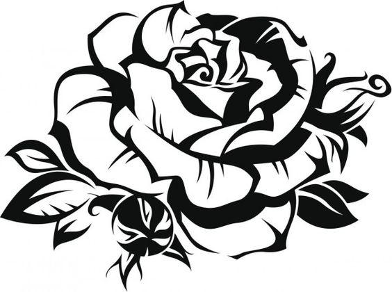 imagen de una rosa para colorear