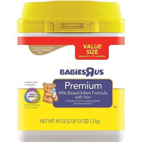 Babies R Us Premium Infant Formula In Mess Less Smartub 45oz Babiesrus Groc Grocery Gourmet Fo Baby Formula Baby Food Recipes Baby Formula Brands