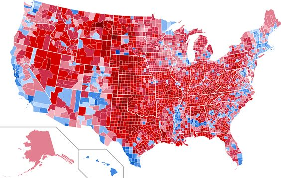 PopulationWeighted Precinct Cartogram Of The US Presidential - Us electoral map 2016 weigjted population