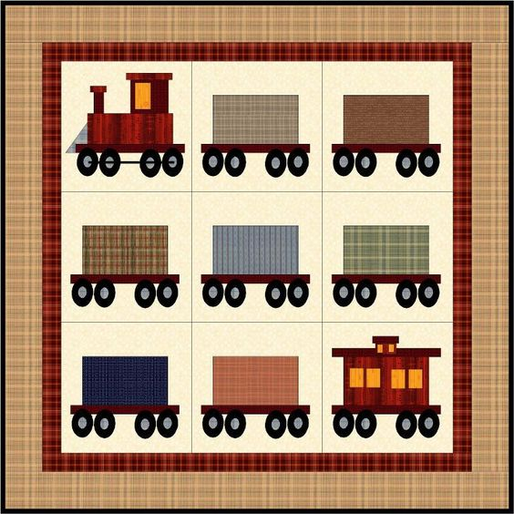 Adorable train quilt: