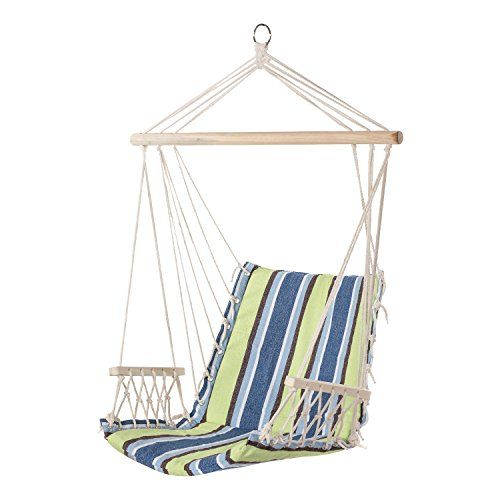 Garden Chairs Swings Benches Bcp Deluxe Padded Cotton Hammock Hanging Chair Indoor Outdoor Use Garden Patio New Times Bg