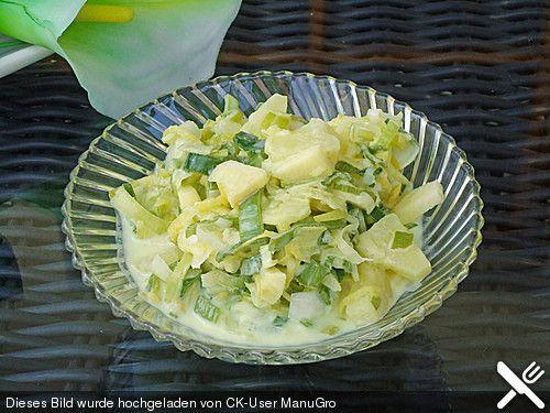 Apfel-Ananas-Lauchsalat, fettarm