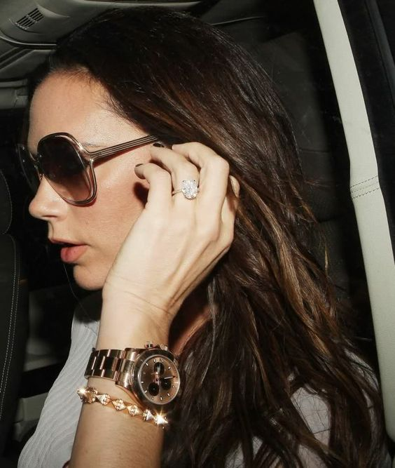 Female celebrities and rolex 22 luxatic victoria beckham pinterest beautiful for women for Celebrity wearing rolex watches