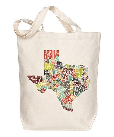 Look what I found on #zulily! Texas Typography Tote #zulilyfinds