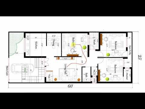 3bhk House Plan 25x60 Ft With Car Parking House Plans How To Plan Indian House Plans