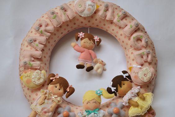 Guirlanda Maternidade Bonecas | Atelier feito pra você by Ana Ribeiro | 330EB6 - Elo7
