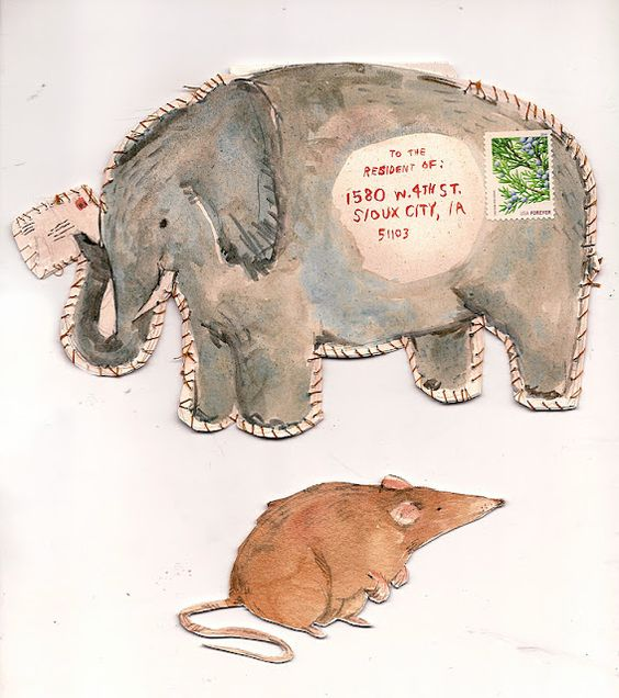Wonderful, artful mail by young artist Phoebe Wahl.