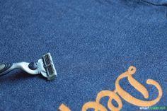 Besonders T-Shirts aus Baumwolle entwickeln nach ein paar Wäschen unschöne Fusseln. Dieser Trick hilft dir, Fusseln, Flusen, Knötchen, Pilling zu entfernen!