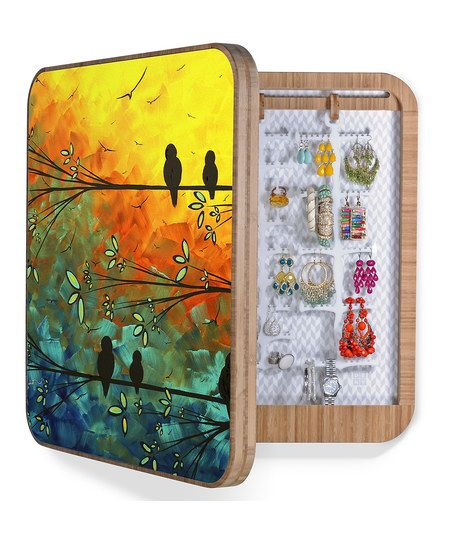 Blue & Yellow Birds of a Feather Blingbox