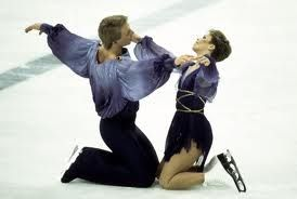 Torvill and Dean, ice dancing champions at the 1984 Winter Olympics. They won their gold medal on Valentine's Day.