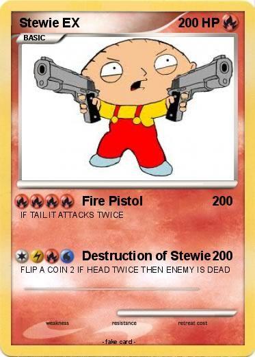 print pokemon cards ex | Pokémon Stewie EX 2 2 - Fire Pistol - My ...