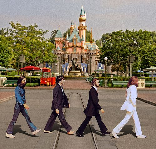 "The Beatles and Disney do have a connection. It's Steve Jobs. Jobs of course is connected to Disney, having created Pixar. But it's Apple Computers that connects him to The Beatles. When Jobs and Steve Wozniak started their little computer company, they needed permission from The Beatles to use the name ""Apple"", because The Beatles already had their music company, Apple Records...click for more"