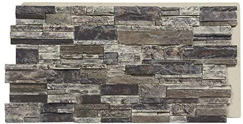 Sedona Faux Stone Panels Slate Gray 1 Pack Each Panel Is 24 High X 48 Wide X 1 5 8 Thick Highest Quality Faux Stone Panels Stone Panels Faux Stone