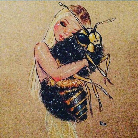 🐝❤🐝❤ #repost #beelove @beekeepersgram #beeart #savethebees #artstagram #honeylove #naturalmedicine #marijuanahoney #feelbetter…