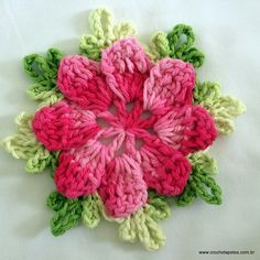 Pattern to this beutifull flover - part 1. part two chow how to make it to a blanket.