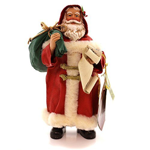 Possible Dreams® ClothtiqueTM Checking His List - Santa Claus In a Red Suit With A List in His Hand and a Bag Over His Shoulder #805004. #SantaClaus #Santa #Claus #Christmas  #Figurine #Decor #Gift #gosstudio .★ We recommend Gift Shop: http://www.zazzle.com/vintagestylestudio ★