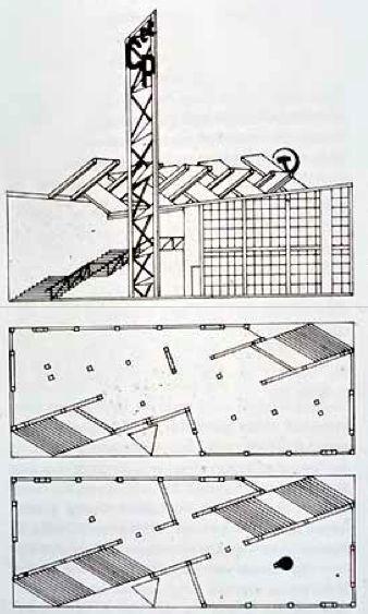 Ussr pavilion by melnikov 1925 at constructivism for Architecture urss