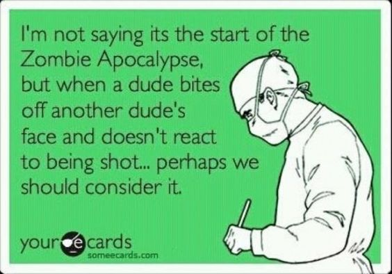 miami zombie attack. I'm always saying how we have to be prepared for a zombie apocalypse!!!